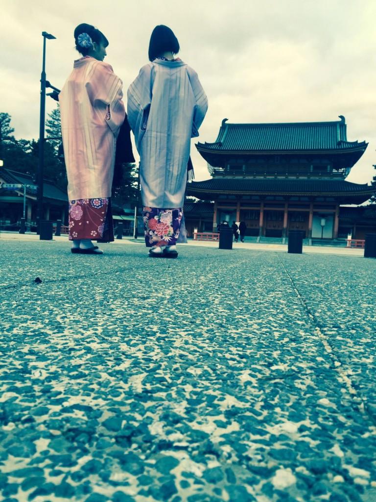 着物レンタルで冬の下鴨神社へ❢2017年1月31日21