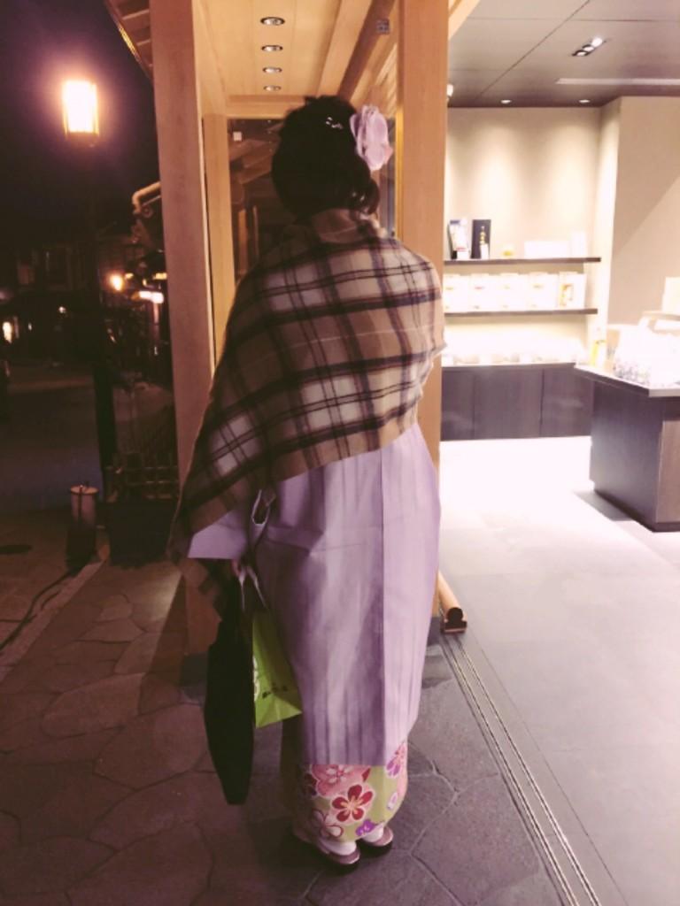 着物レンタルで冬の下鴨神社へ❢2017年1月31日22