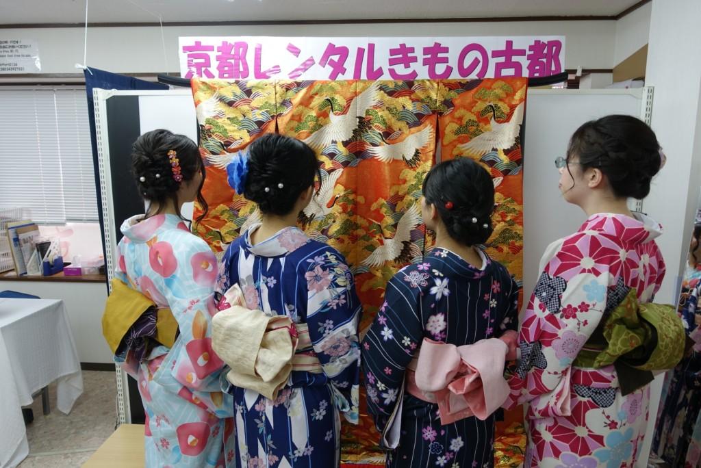 卒業旅行❣山形から京都で着物レンタル♪2017年2月23日1
