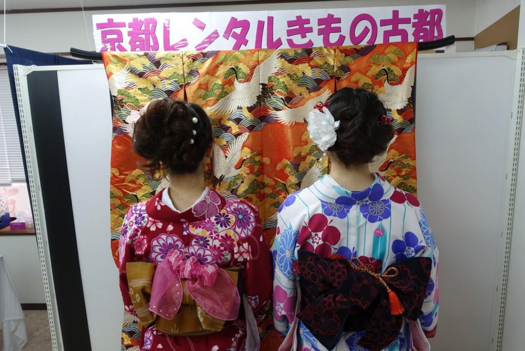 皆様、着物レンタルで八坂庚申堂へ❣2017年2月24日5