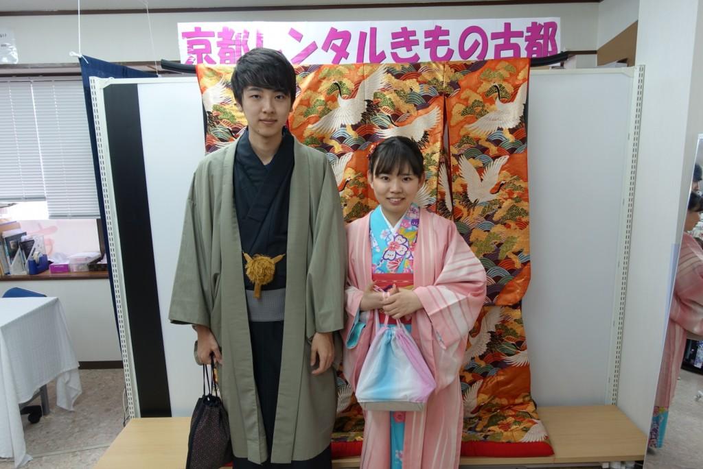中国から日本の思い出に京都で着物レンタル♪2017年2月25日13