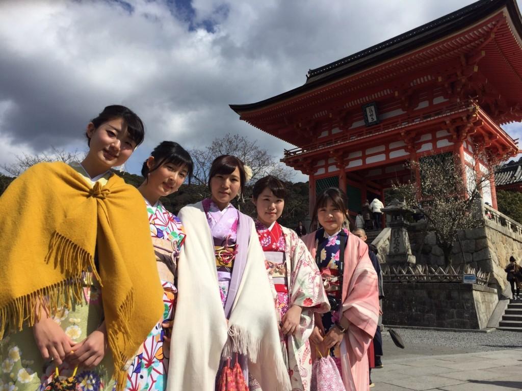 韓国からの留学生❣日本の学生と京都で思い出を❣2017年2月19日13