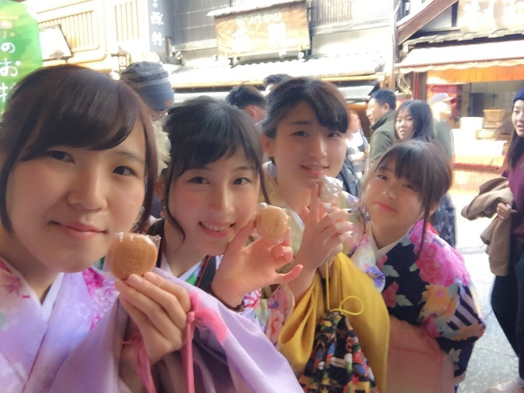 韓国からの留学生❣日本の学生と京都で思い出を❣2017年2月19日14