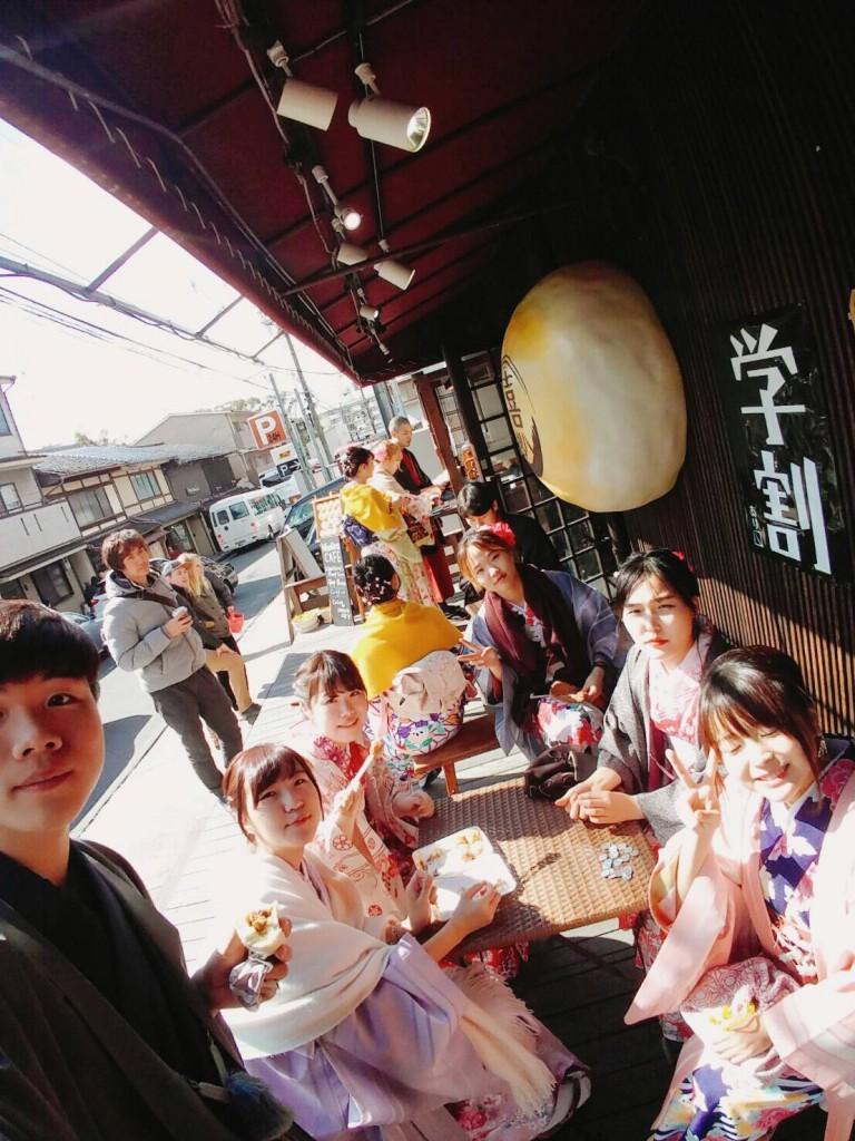 韓国からの留学生❣日本の学生と京都で思い出を❣2017年2月19日19