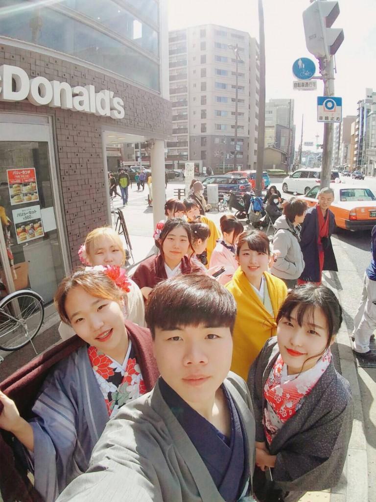 韓国からの留学生❣日本の学生と京都で思い出を❣2017年2月19日20