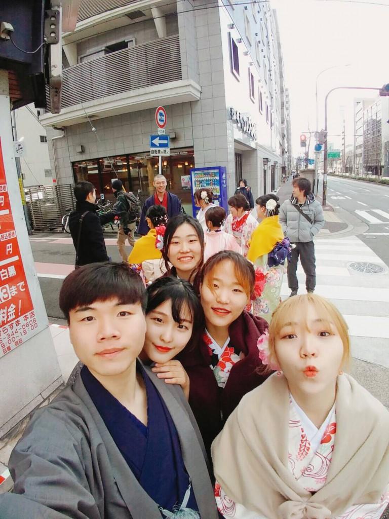 韓国からの留学生❣日本の学生と京都で思い出を❣2017年2月19日21