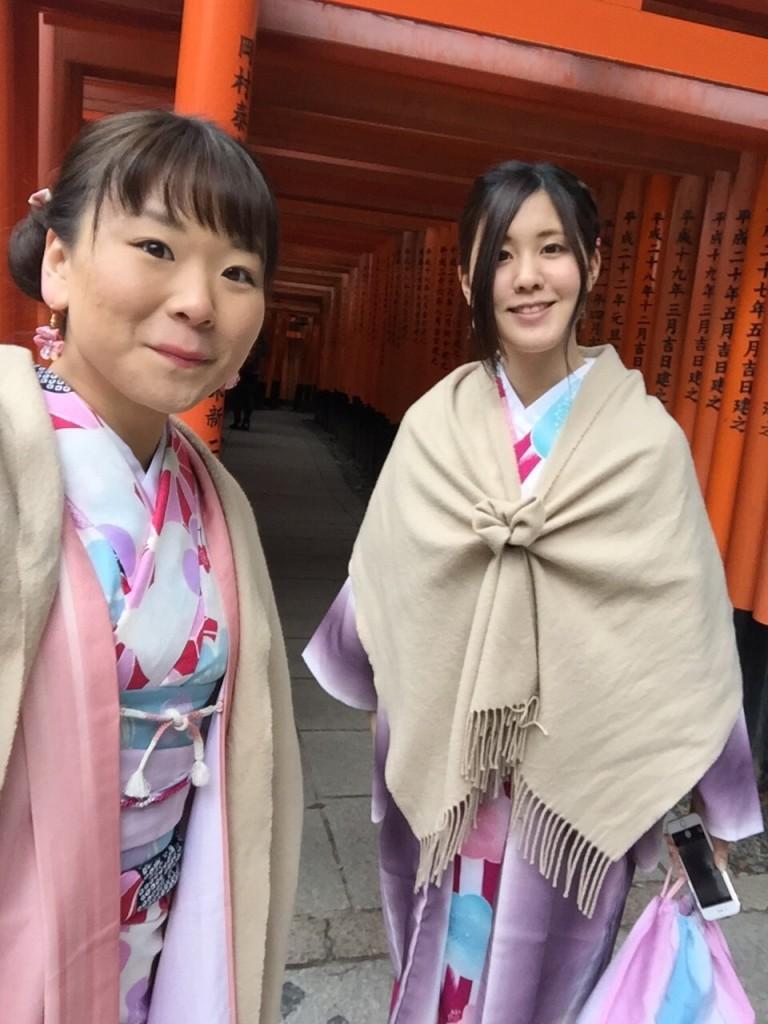 人気スポットは八坂庚申堂と伏見稲荷大社2017年2月21日23