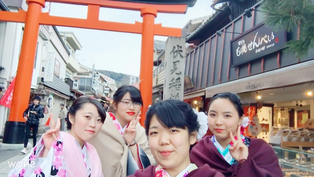 人気スポットは八坂庚申堂と伏見稲荷大社2017年2月21日32