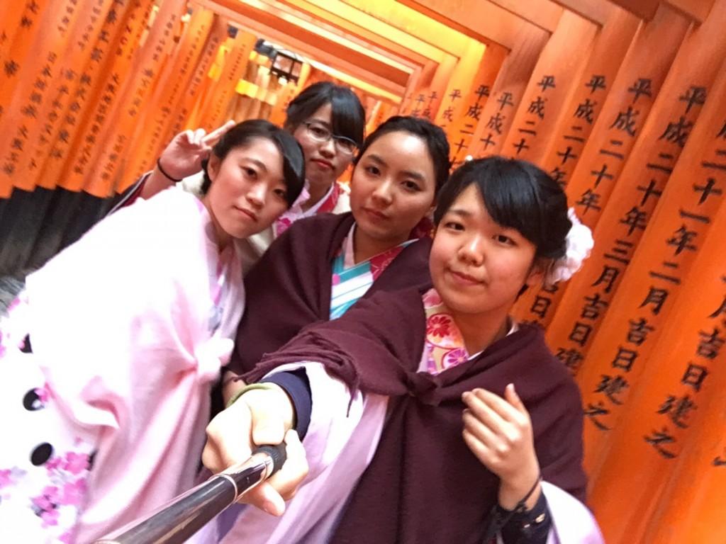人気スポットは八坂庚申堂と伏見稲荷大社2017年2月21日31