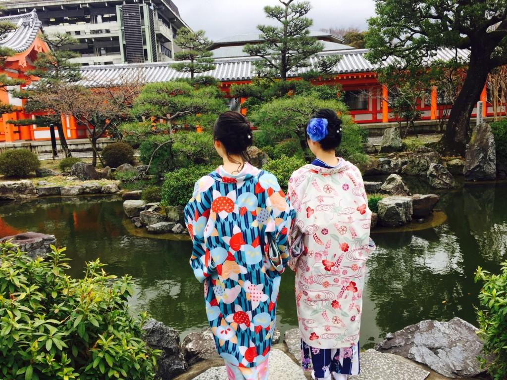 卒業旅行❣山形から京都で着物レンタル♪2017年2月23日8