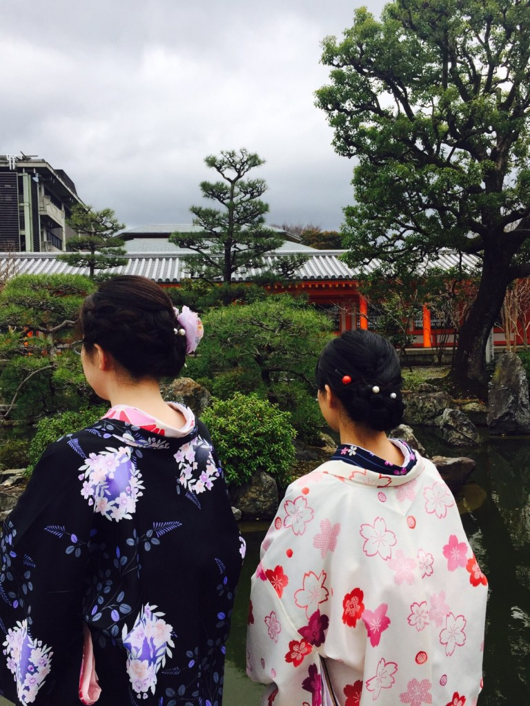卒業旅行❣山形から京都で着物レンタル♪2017年2月23日9