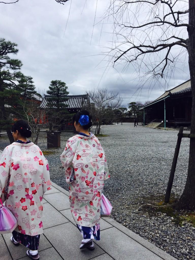 卒業旅行❣山形から京都で着物レンタル♪2017年2月23日10