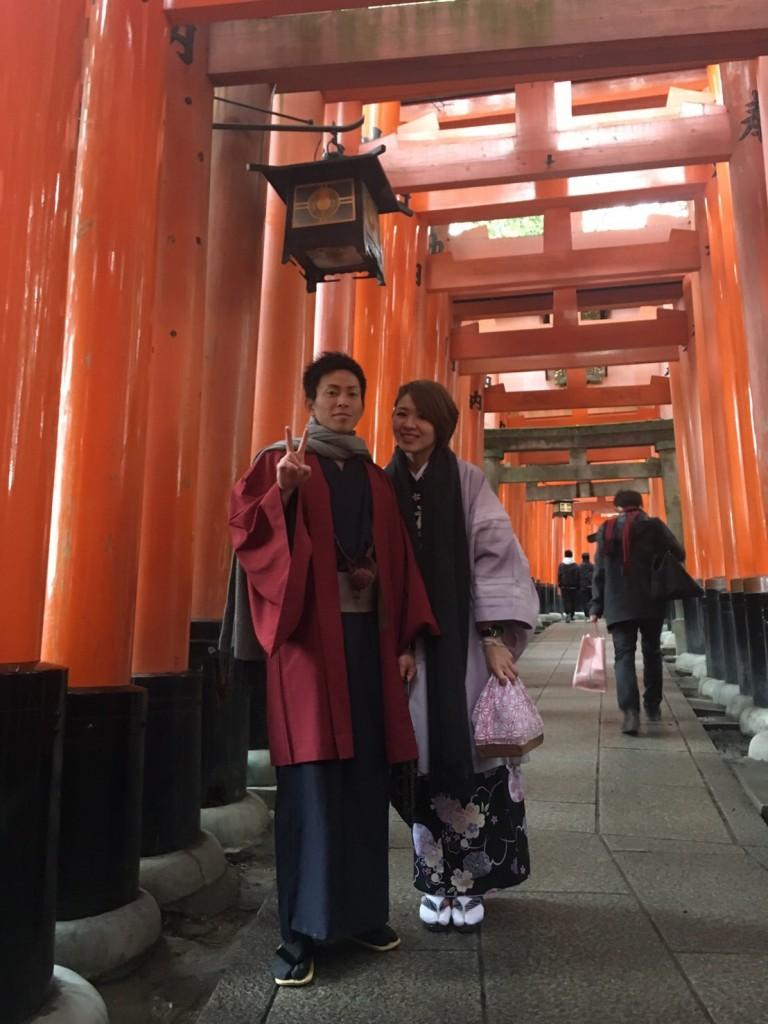 卒業旅行❣山形から京都で着物レンタル♪2017年2月23日11