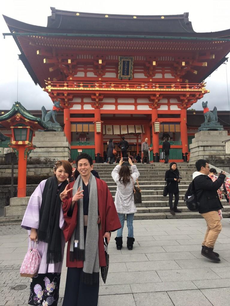 卒業旅行❣山形から京都で着物レンタル♪2017年2月23日12