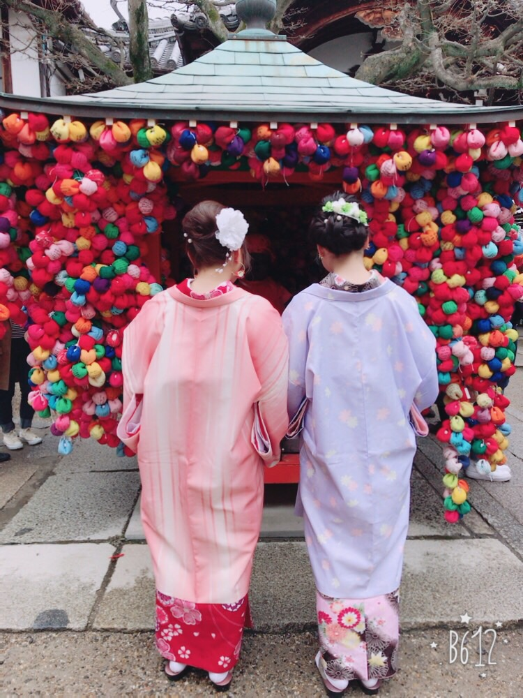 卒業旅行❣山形から京都で着物レンタル♪2017年2月23日15