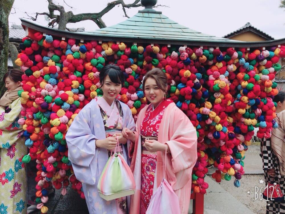 卒業旅行❣山形から京都で着物レンタル♪2017年2月23日16