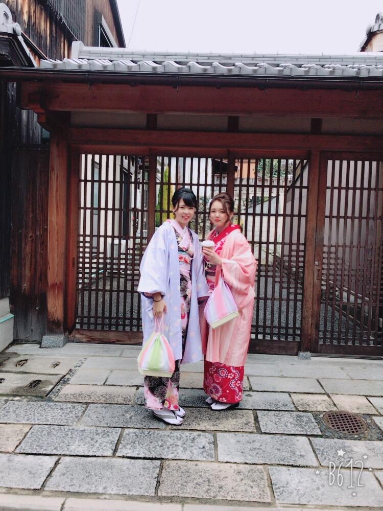 卒業旅行❣山形から京都で着物レンタル♪2017年2月23日18