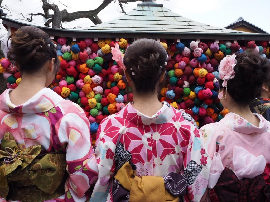 皆様、着物レンタルで八坂庚申堂へ❣2017年2月24日17
