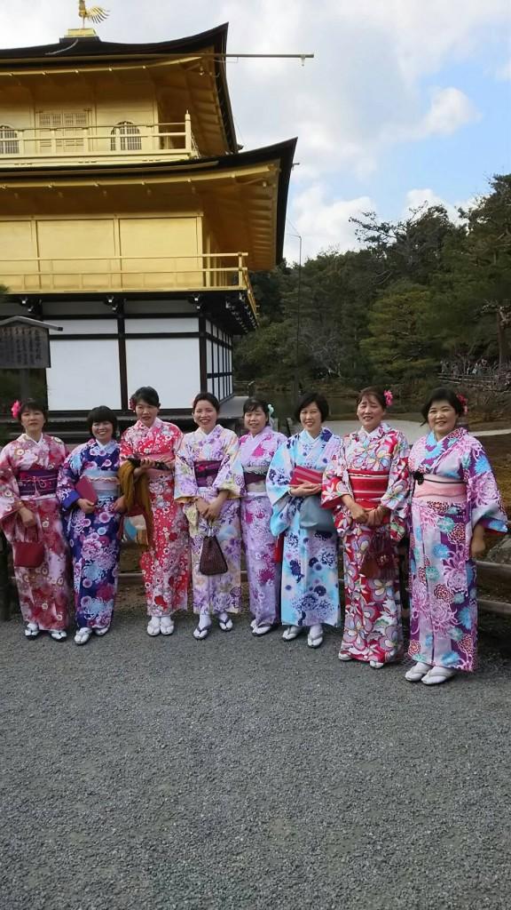 中国から日本の思い出に京都で着物レンタル♪2017年2月25日15