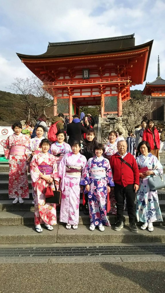 中国から日本の思い出に京都で着物レンタル♪2017年2月25日14