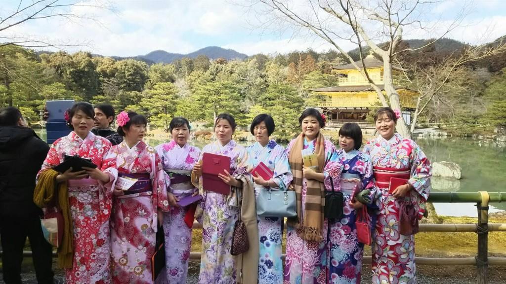 中国から日本の思い出に京都で着物レンタル♪2017年2月25日16