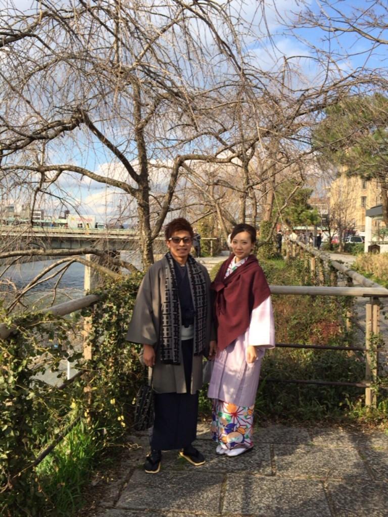 中国から日本の思い出に京都で着物レンタル♪2017年2月25日17