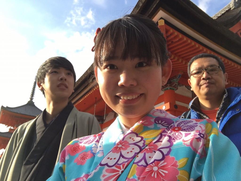 中国から日本の思い出に京都で着物レンタル♪2017年2月25日21