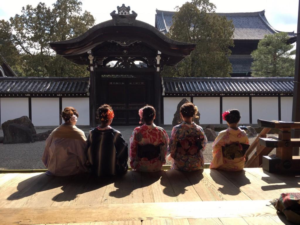 中国から日本の思い出に京都で着物レンタル♪2017年2月25日23