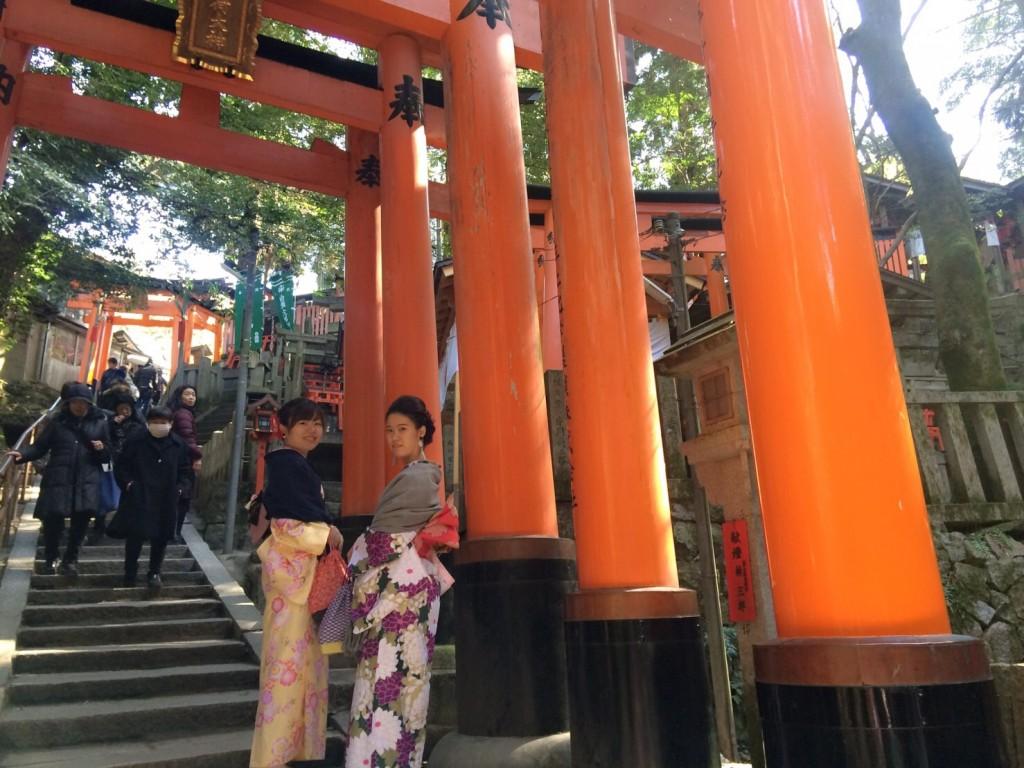 三年ぶりに皆で京都へ卒業旅行♪2017年2月27日25
