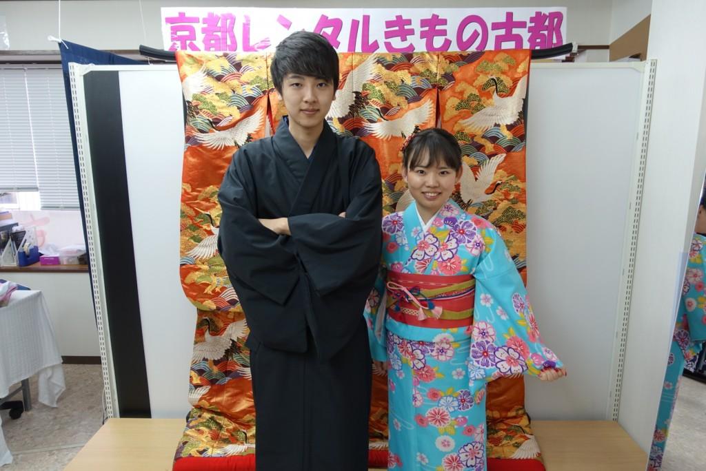 中国から日本の思い出に京都で着物レンタル♪2017年2月25日11