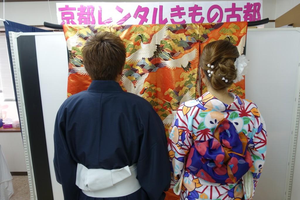 中国から日本の思い出に京都で着物レンタル♪2017年2月25日9