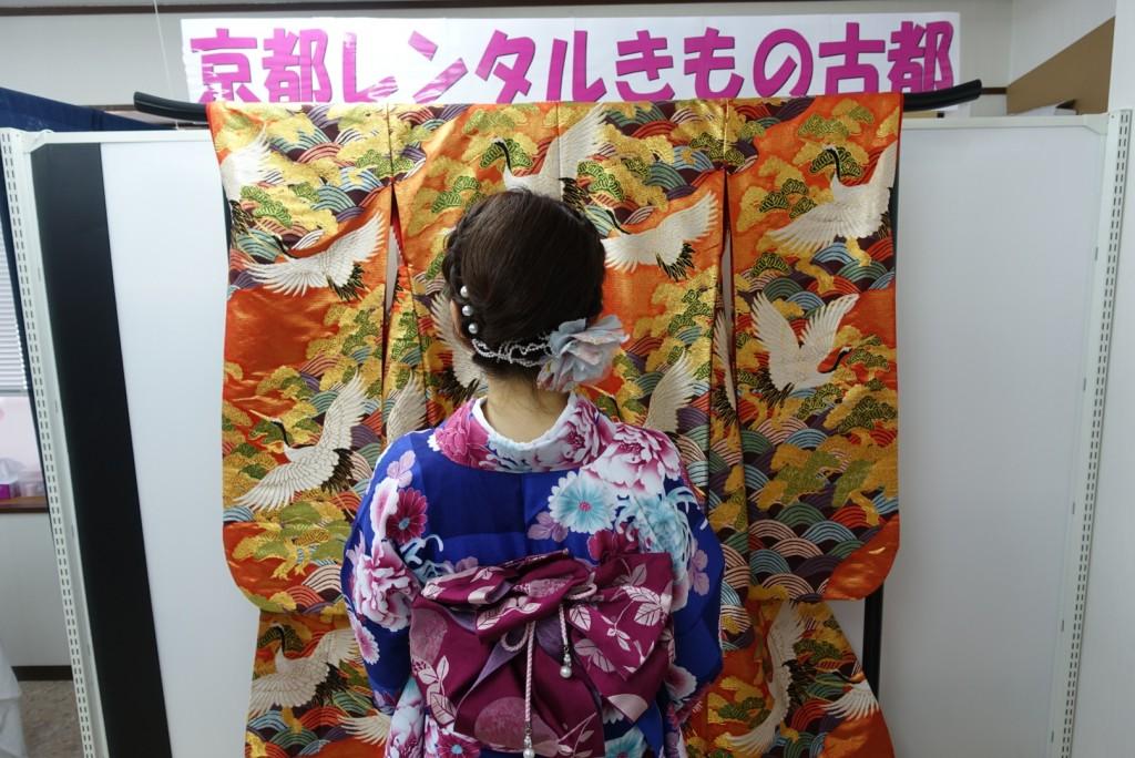 中国から日本の思い出に京都で着物レンタル♪2017年2月25日2