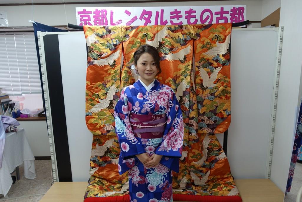 中国から日本の思い出に京都で着物レンタル♪2017年2月25日1