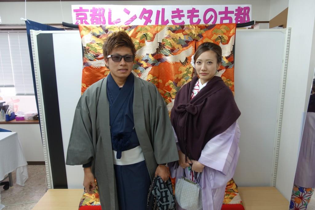 中国から日本の思い出に京都で着物レンタル♪2017年2月25日10
