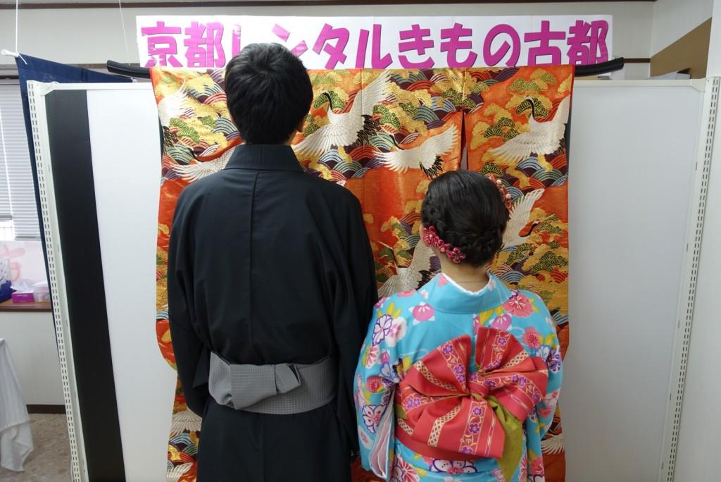 中国から日本の思い出に京都で着物レンタル♪2017年2月25日12