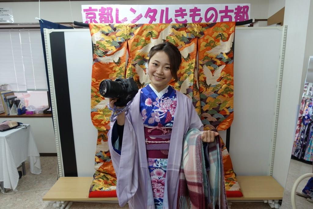中国から日本の思い出に京都で着物レンタル♪2017年2月25日3