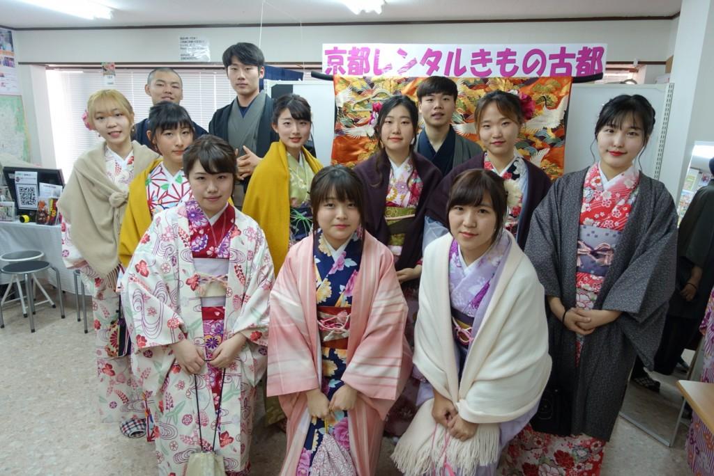 韓国からの留学生❣日本の学生と京都で思い出を❣2017年2月19日4