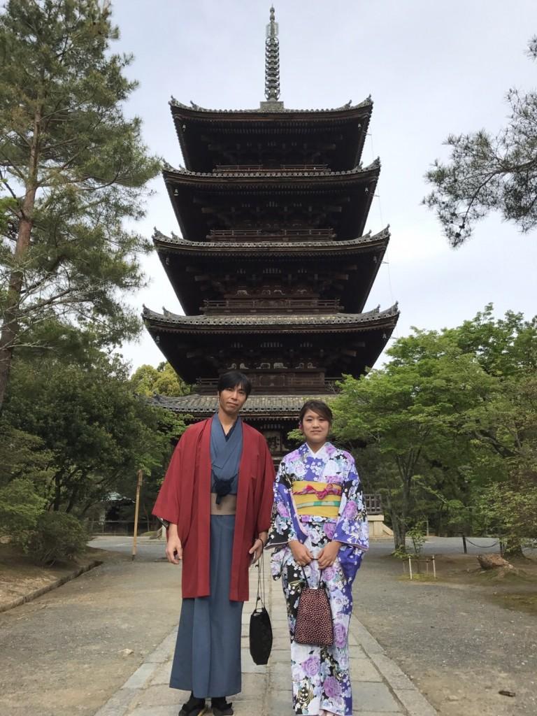 金閣寺・龍安寺・仁和寺 きぬかけの路を散策2017年4月27日3