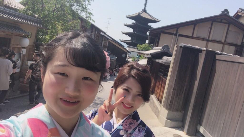 カップル❣人力車で京都東山散策♪2017年4月30日2