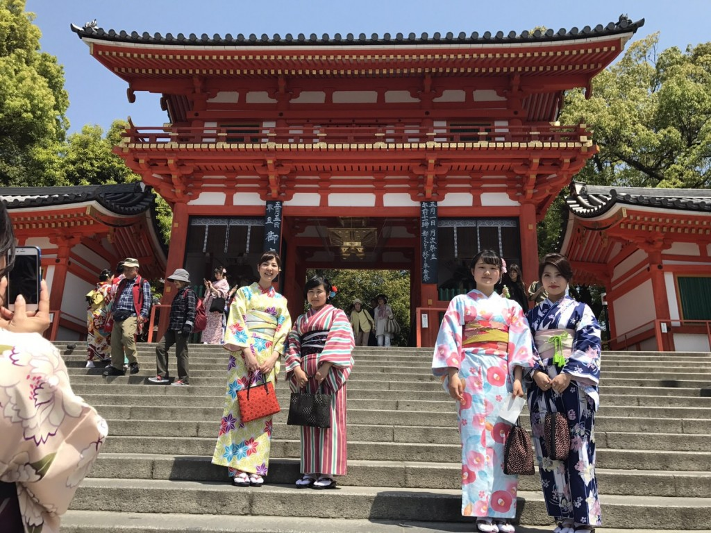 カップル❣人力車で京都東山散策♪2017年4月30日3