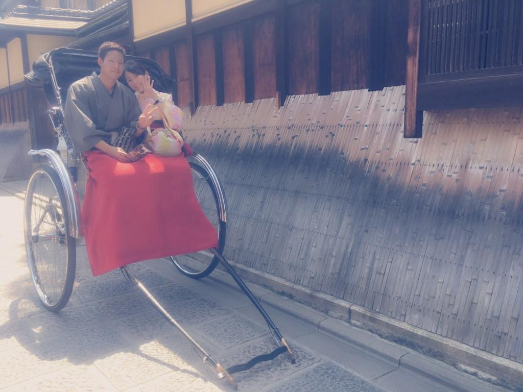 カップル❣人力車で京都東山散策♪2017年4月30日7