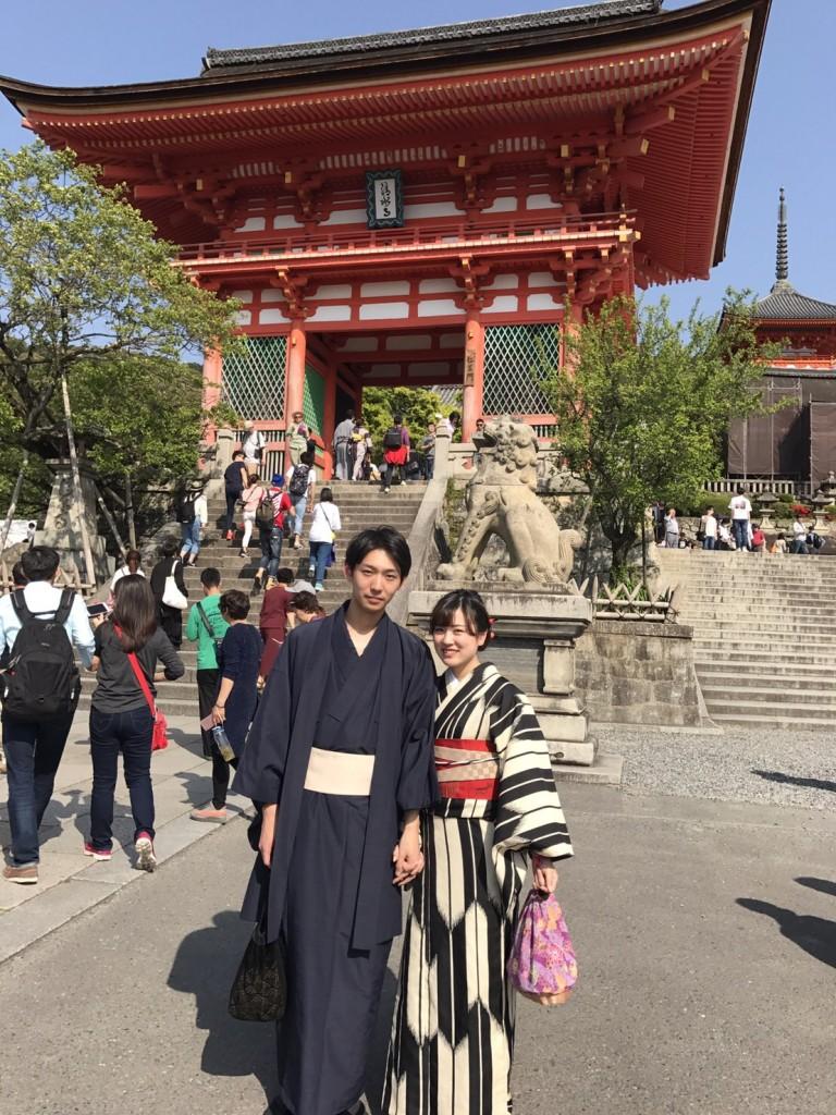 カップル❣人力車で京都東山散策♪2017年4月30日8