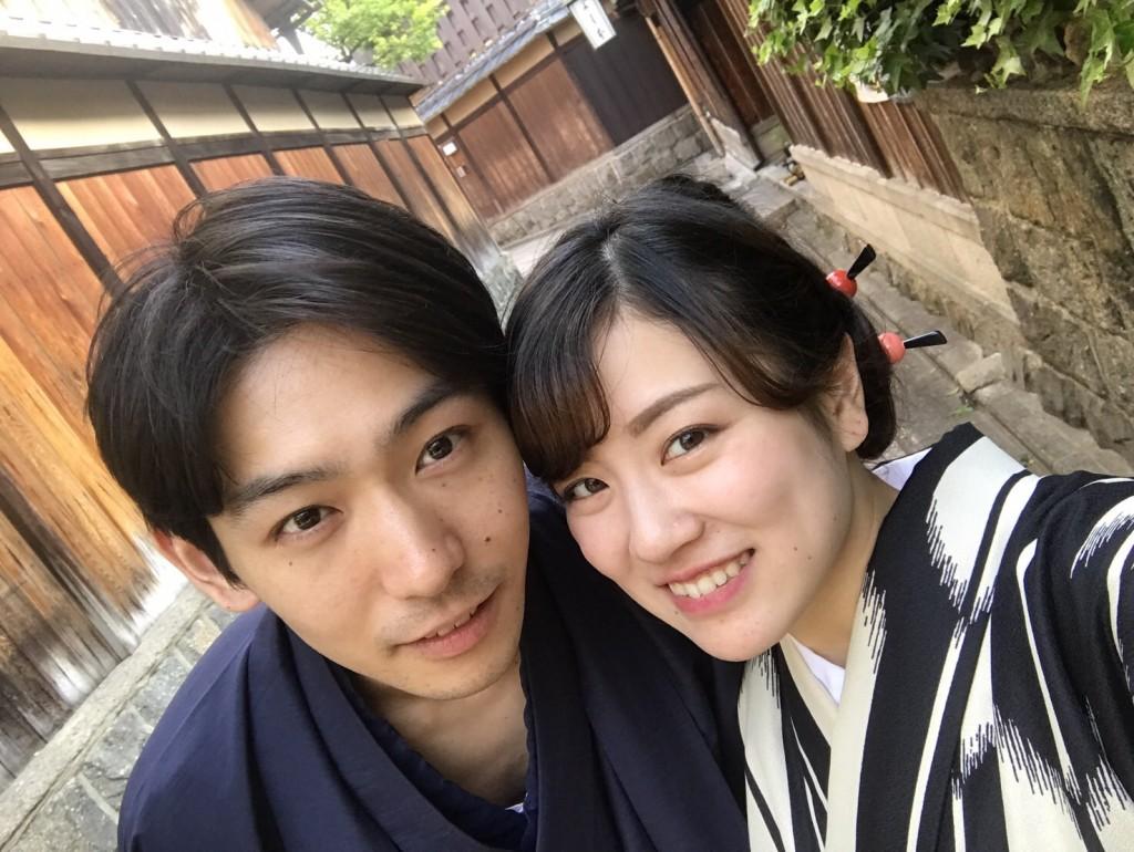 カップル❣人力車で京都東山散策♪2017年4月30日10