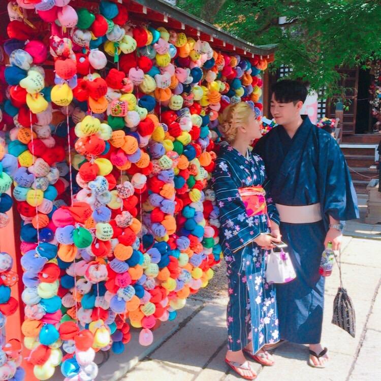 韓国から着物レンタルで八坂庚申堂へ♪2017年6月28日1