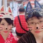 カップルきつねのお面ご持参で伏見稲荷大社へ❣2017年7月5日11