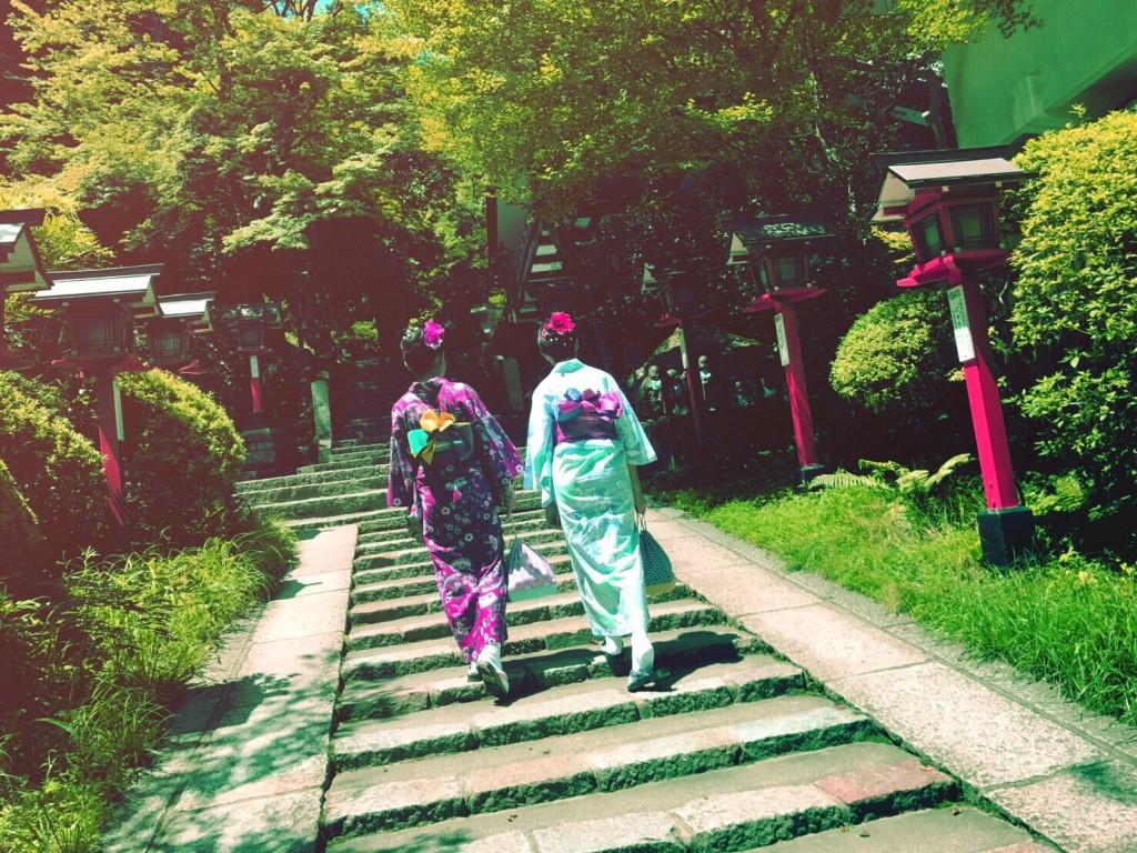 浴衣で貴船神社七夕笹飾りライトアップ大人気♪2017年7月26日2