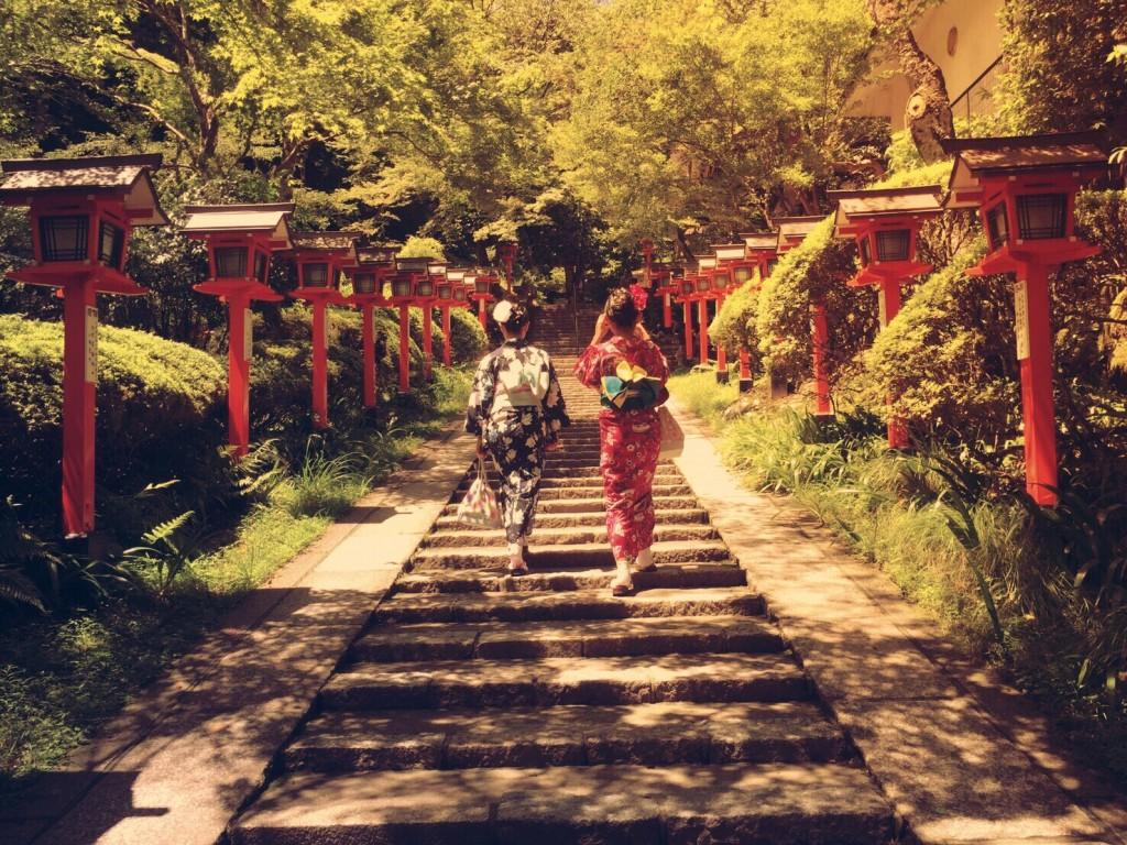 浴衣で貴船神社七夕笹飾りライトアップ大人気♪2017年7月26日3