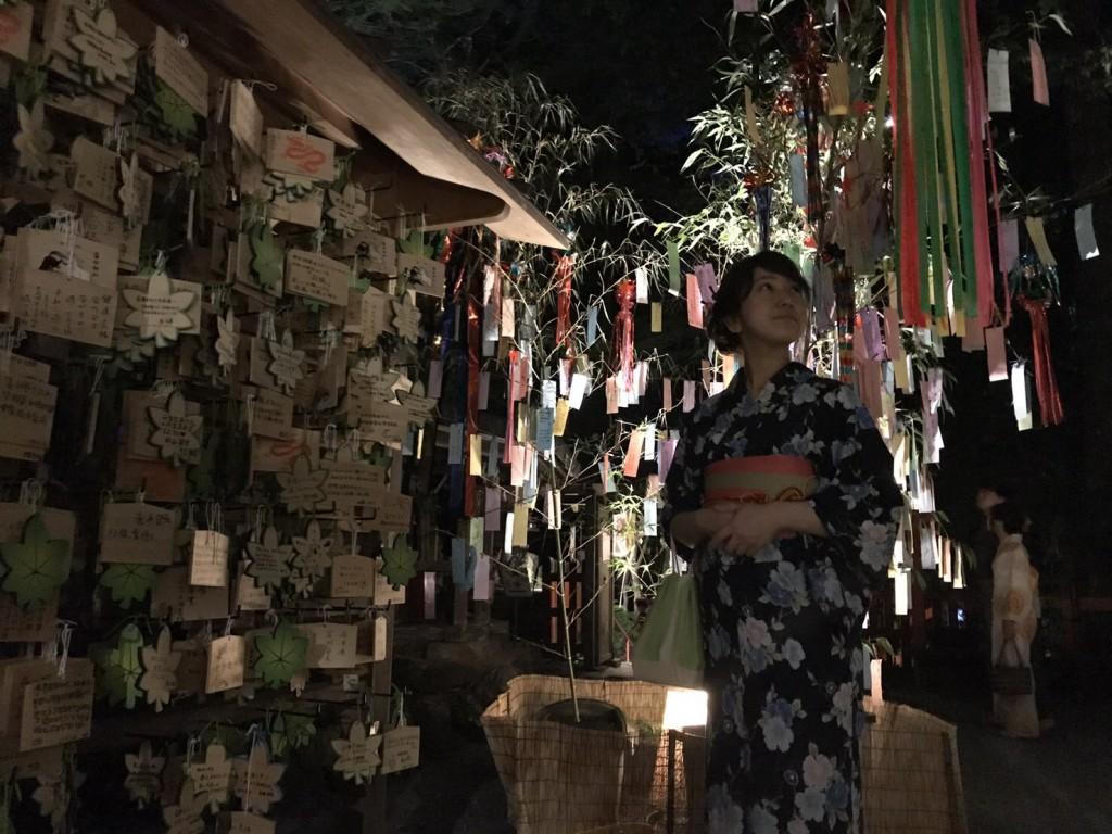 浴衣で貴船神社七夕笹飾りライトアップ大人気♪2017年7月26日7