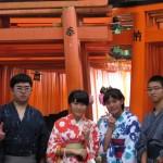 関東から中学修学旅行生浴衣レンタル♪2017年9月8日1