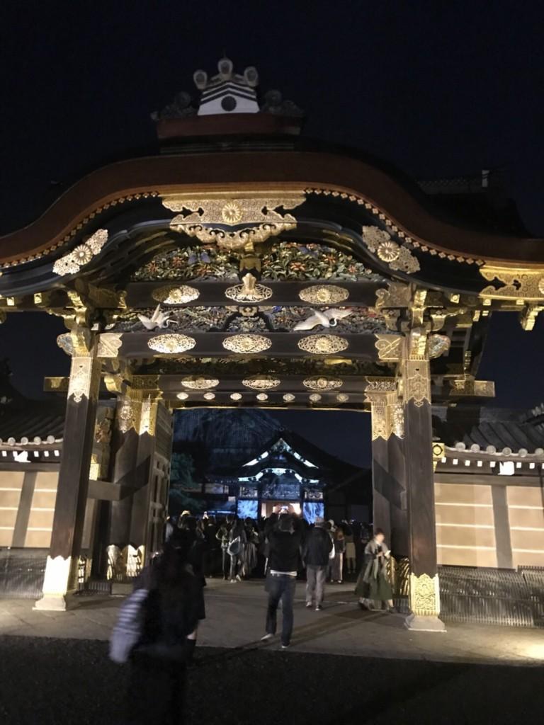 夜は大政奉還150周年記念の二条城ライトアップへ♡2017年10月17日4
